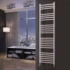 heated towel bar. HB Essentials Zena White Straight Ladder Heated Towel Rails Bar