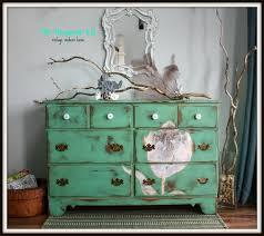 Mint Green Distressed Dresser