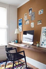 diy office space. DIY A Custom Office Wall For Cute Home Space. Corkboard Wallpaper Feature Diy Space