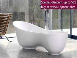 Customized Freestanding White Marble Granite Bathtub Surface 54 ...