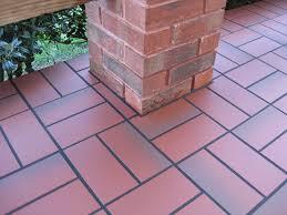 quarry tile over concrete patio