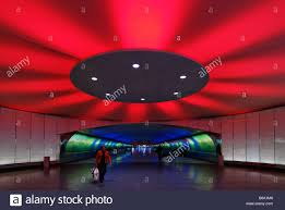 Light Tunnel B Q Traveler Exiting Tunnel With Light Show Between Concourse A