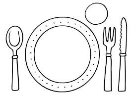 Kleurplaat Bord En Bestek Restauranthoek Peuter Thema Eten En