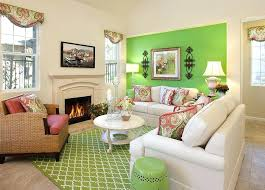jcpenney fireplace sofa living room with accent wall area rug candlesticks ceramic stool decorative throw pillows fireplace floor lamp fringe lime green