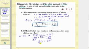 writing linear equation in general form part 1