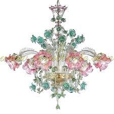 colored glass chandelier multi colored murano glass chandelier
