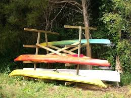 outdoor kayak rack wooden homemade shelves best storage