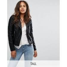 vero moda tall leather look biker jacket women s leather jacket vlrjryrocmwv94