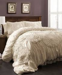 Lush Decor Belle Bedding Azalee Romantic Ruffled 100 PC Comforter Bedding Set Comforter 79