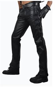 leather trousers side leces