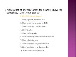 how to speech topics what are good how to topics how to  list of powerpoint topics powerpoint presentation