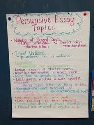 persuasive writing student example a chaos of classroom ideas  persuasive essay topics