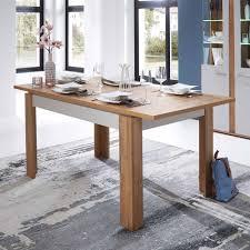 Esstisch Mit Kulissenauszug Eiche Weiß Tisch Kaufende