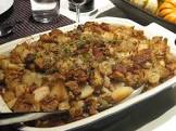 bread stuffing w  pears  bacon  pecans   caramelized onions