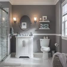 white bathroom cabinets gray walls. a pair of wall sconces perfectly frame this bathroom mirror. select vanity lights based on white cabinets gray walls d