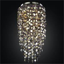 large shell chandelier midnight pearl 582sc24 50sp 9bv
