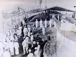 Image result for He traveled on board the battleship Louisiana