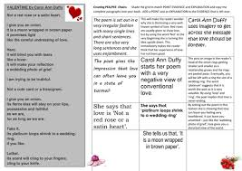 valentine carol ann duffy edexcel relationship pee pea chains  valentine carol ann duffy edexcel relationship pee pea chains worksheet by lesley1264 teaching resources tes