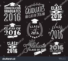 Class Of 2016 Design Graduation Wishes Overlays Lettering Labels Design Stock