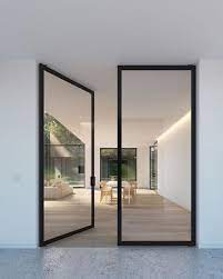 double glass steel framed doors