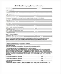 Emergency Contact Forms For Children 26 Emergency Contact Form In Pdf Free Documents In Pdf