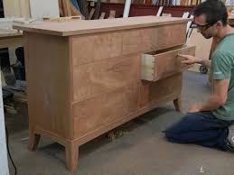 Double Dresser Building Process Custom Made by Doucette and Wolfe