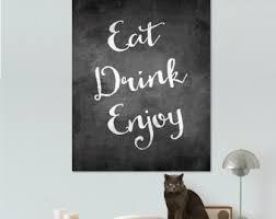 eat drink enjoy wall art
