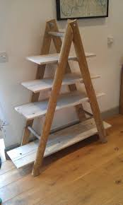image ladder bookshelf design simple furniture. wood recycling ladder bookcase with four tier for home furniture ideas image bookshelf design simple