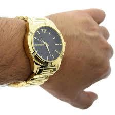 modern men s black gold watch watches modern men s black gold watch