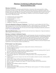 Resume For A Pharmacy Technician Objective For Pharmacy Technician Resume Sample Certified No 21