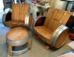 wine barrel chairs and table the green head furniture solvang walla wa