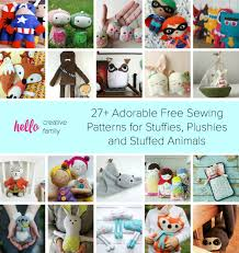 Free Stuffed Animal Patterns Enchanting 48 Adorable Sewing Patterns For Stuffies Plushies Stuffed Animals