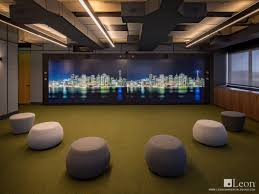 custom profile seven series speakers for a large scale video wall at the slack headquarters in san francisco