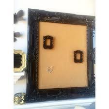 pin board for office. Black Ornate Cork Board, Pin Calendar, Office Decor, Kitchen Board For O