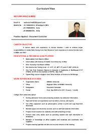 cv for document controller rgg
