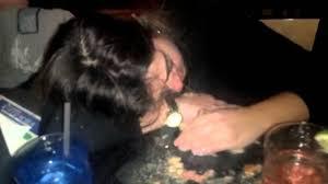 Drunk girl throw up