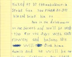 patriotexpressus pleasant how to write a self introduction letter patriotexpressus licious in handwritten letter yearold tells obama syrian boy can be breathtaking in handwritten