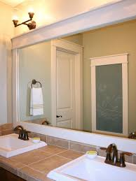 creative wood framed bathroom mirrors