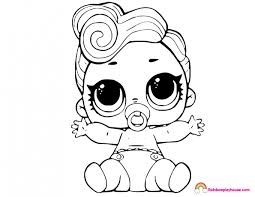 Lil Queen Lol Dolls Coloring Page Rainbow Playhouse Coloring Pages