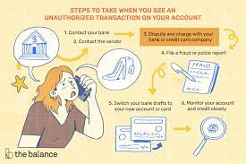 Consumers can dispute fraudulent charges on their bill by calling their issuer. 6 Steps To Dealing With Unauthorized Transactions