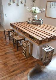 Make Your Own Kitchen Table Homemade Bar Diy Pallet Idea Diy Pallet Ideas
