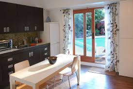 extraordinary picture of window treatment for sliding glass door in kitchen how to use curtain with