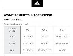 Size Chart Adidas