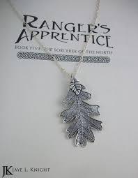 silver oak leaf pendant ranger s appice inspired