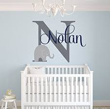 custom elephant name wall decal for boys baby boys room decor nursery wall decals on baby boy room decor wall art with amazon custom elephant name wall decal for boys baby boys
