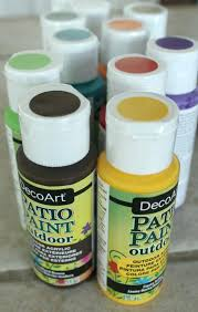 outdoor acrylic paint we also stocked up on lots of paint colors i chose outdoor acrylic