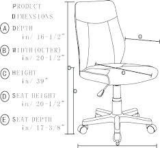 chair seat height desk chair height standard seat office chair seat height