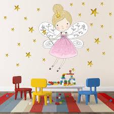 gold stars beautiful fairy girl vinyl