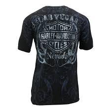 las vegas harley davidson skull dice shirt