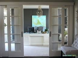 home office doors with glass. Glass Home Office Doors Makeover Reveal Bookcase With